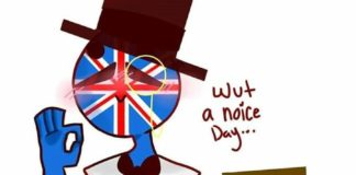 Countryhumans Great Britain x America meme