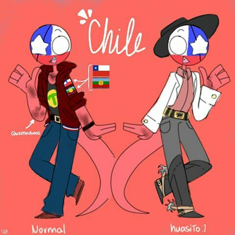Chile Countryhumans