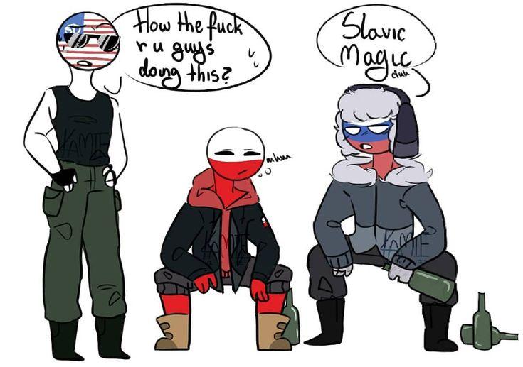 countryhumans America x poland x russia