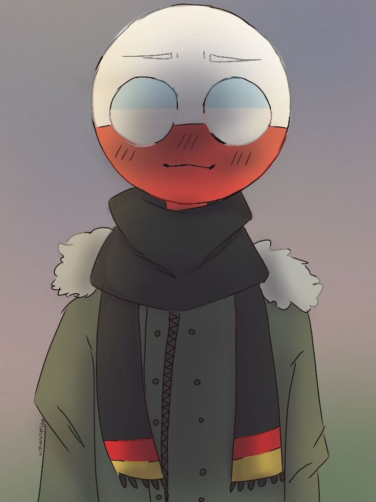 countryhumans : Poland with German scarf