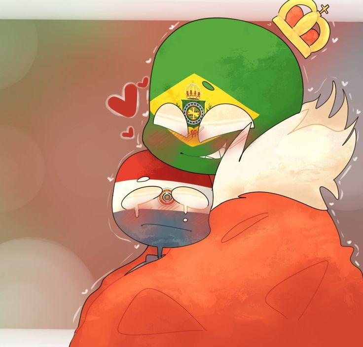 countryhumans Brazil x Paraguay