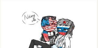Countryhumans RusAme America x russia