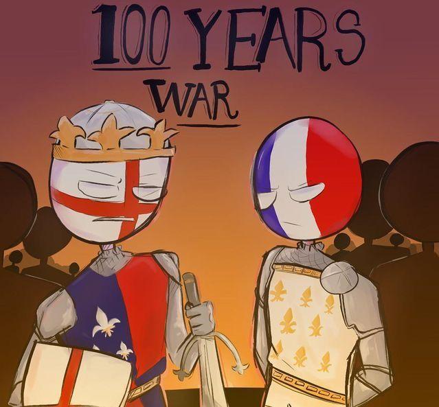 100 years War countryhumans