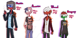 [COUNTRYHUMANS] - Heightchart by OtterLucy