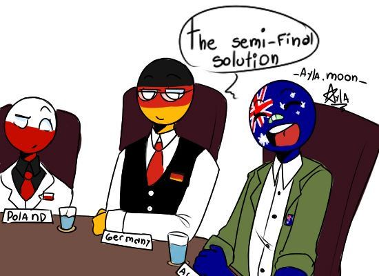 Countryhumans Australia x Germany x poland