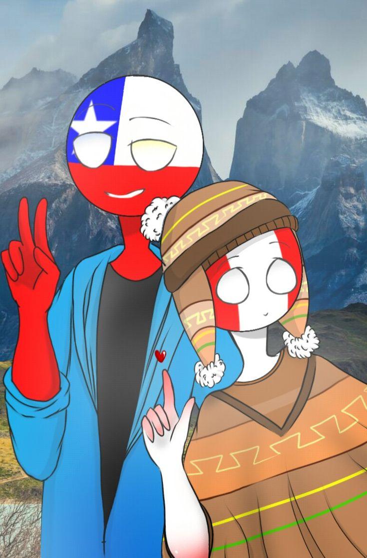 Countryhumans Chile X Peru Countryhumans