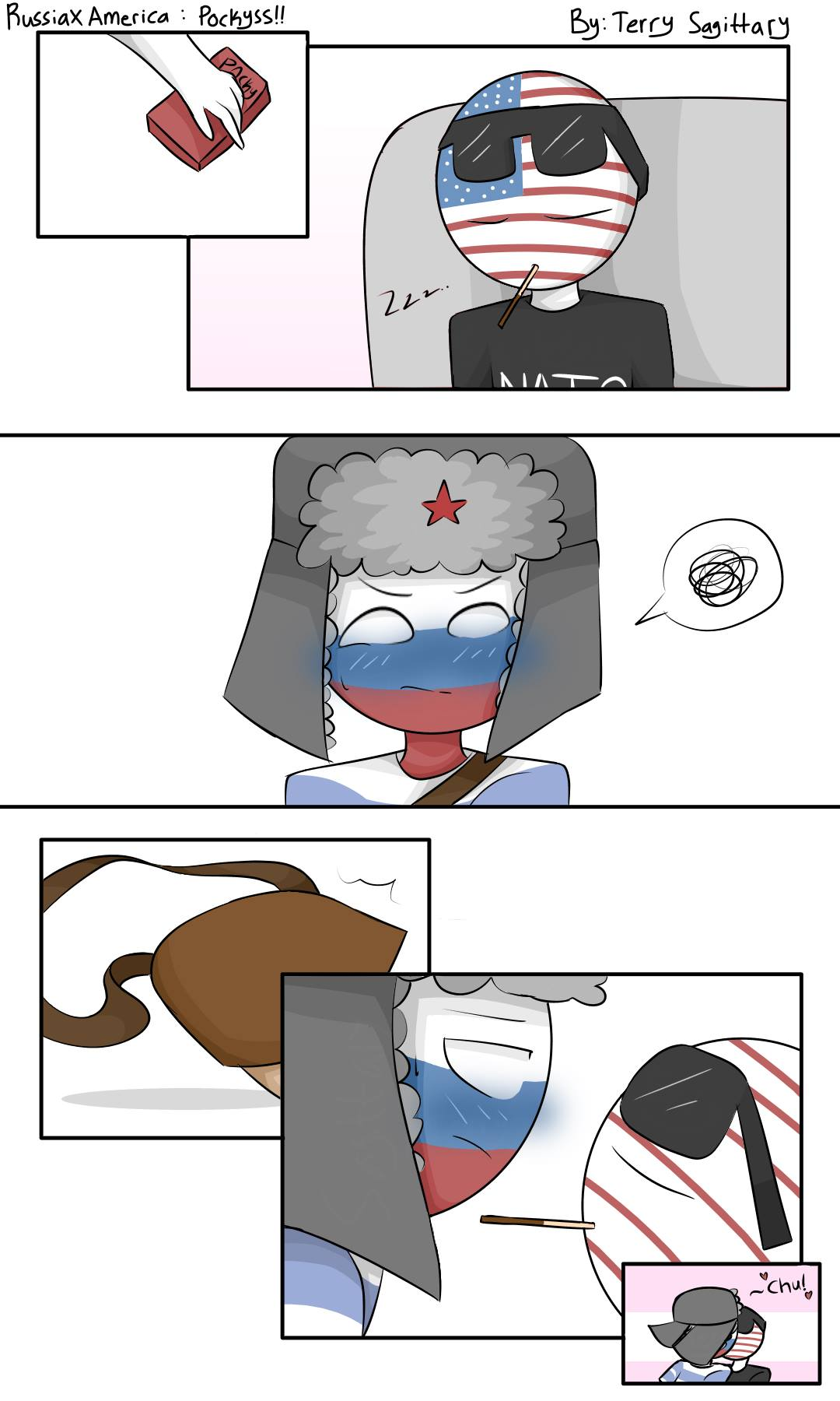 Russia x America by terry Sagittary - CountryHumans