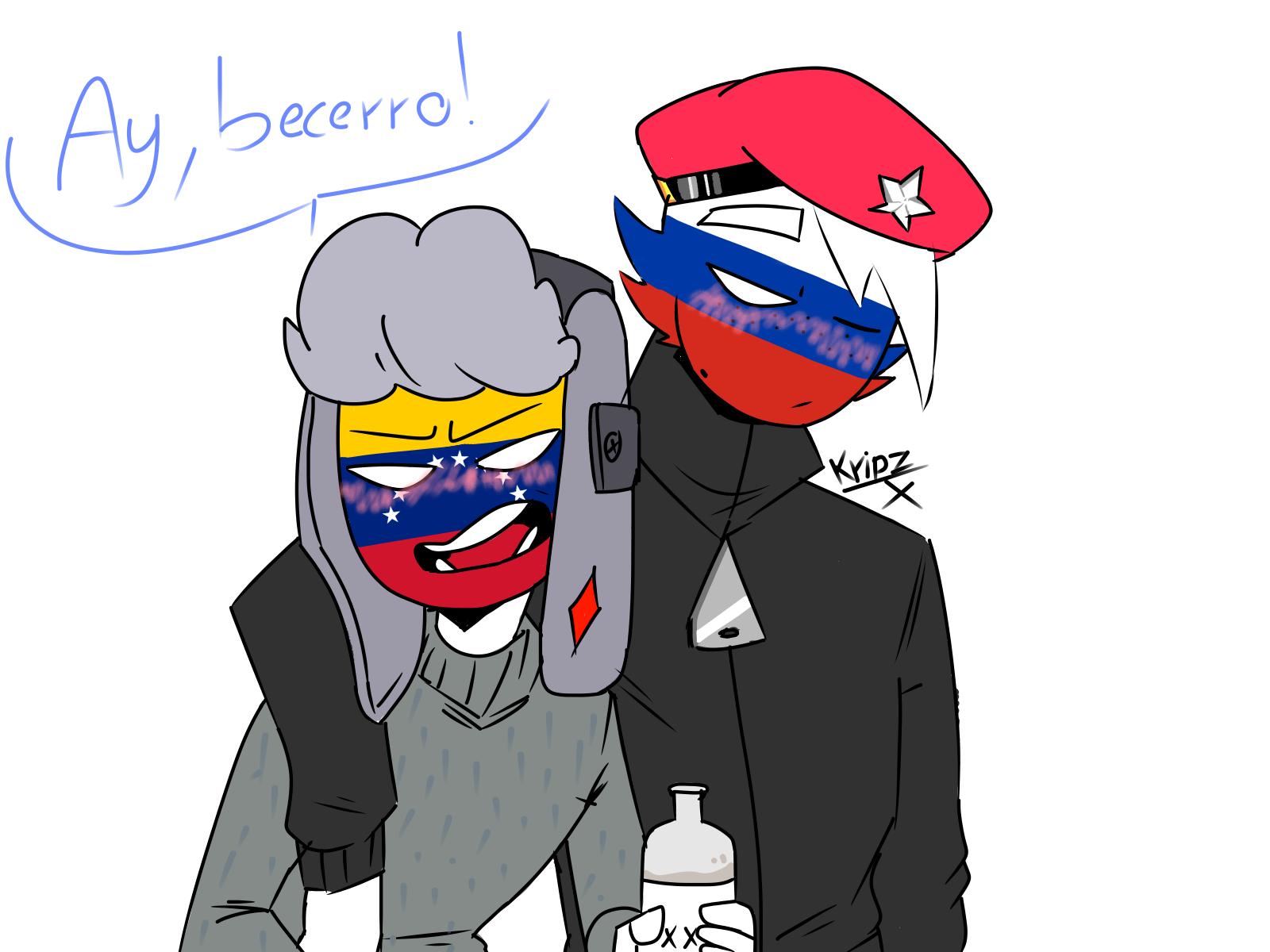 country humans: russia x venezuela