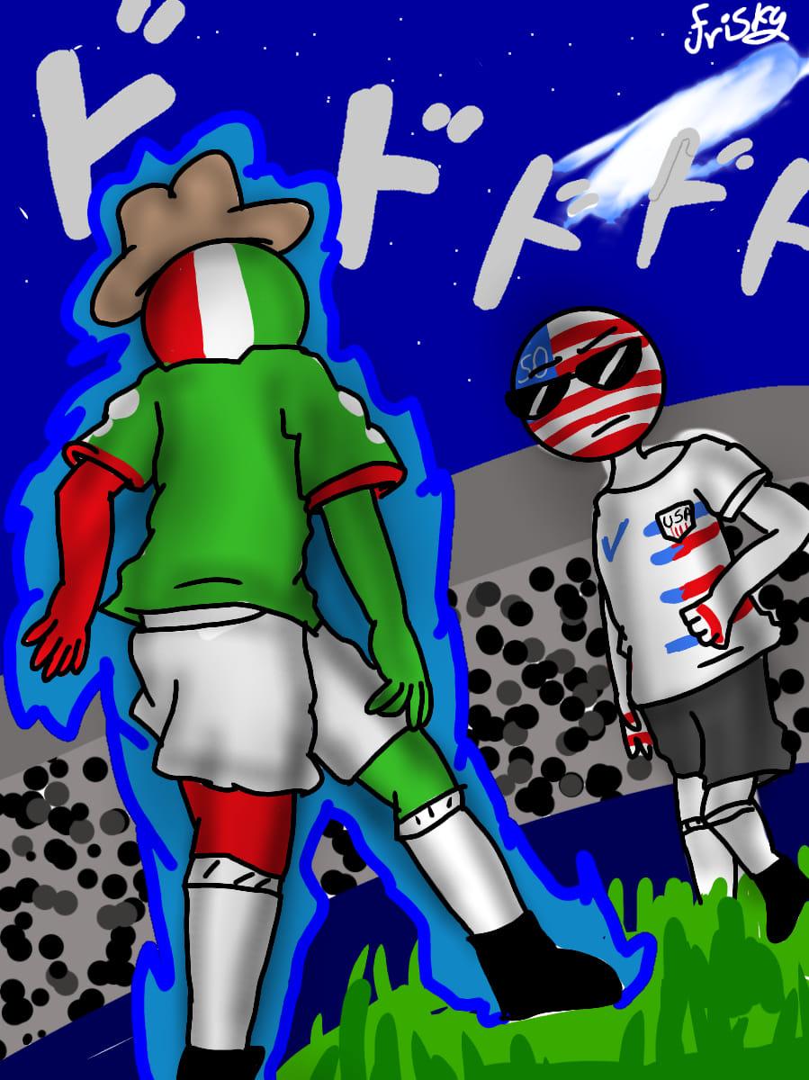 México x America football countryhumans