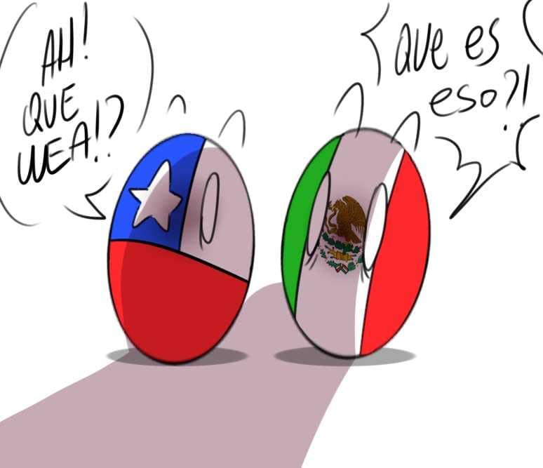 mexico x Chile countryhumans