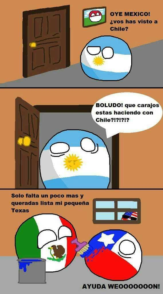 Mexico X Argentina X Chile Countryhumans