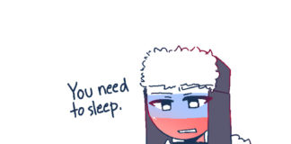 (#Countryhumans) GO. TO. SLEEP. (Artist: strawberry_birb on Tumblr) Россия