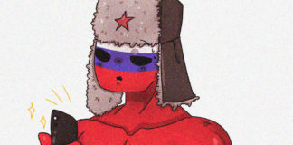russia stron countryhumans